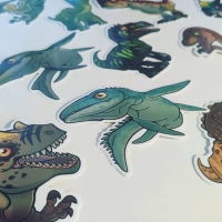 Stickysaurs: original stickers, dinosaur inspired!