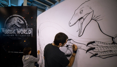 Art event in Rome to celebrate Jurassic World 2